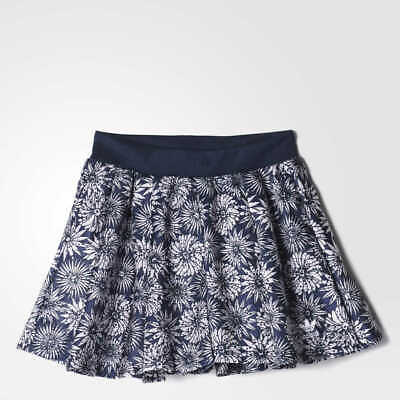 adidas Originals Girl's (Youth) J FR Skirt Blue/White Floral Print L S96040