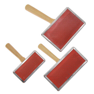 Three Size Sheeps Wool Blending Carding Combs Hand Carder Felting Preparation