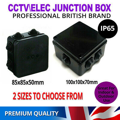 Weatherproof Junction Box Case IP65 Waterproof Black for Outdoor Electric CCTV