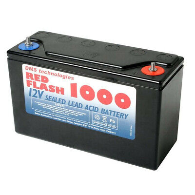 DMS Technologies Red Flash 1000 12V 34Ah Lead Acid Battery