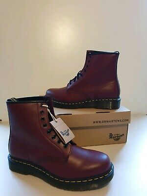 Mens Dr Martens 1460 cherry red - 8 Hole Eyelet Mens Boots UK 9 . New boxed ....
