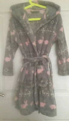 Next Girls Rabbit Dressing Gown Size 6 Super Soft
