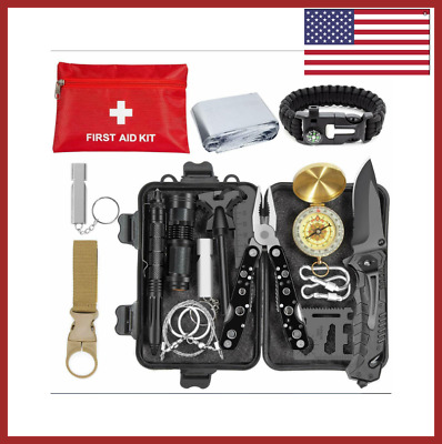 Survival Gear Kit Backpack And Military For Camping Outdoor Tools Emergency New