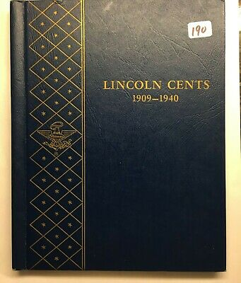 1909 - 1940 Lincoln Cent Collection (79 coins) In Whitman Album (Lot 190 #1)