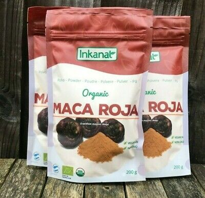 Organic Red Maca Powder (Maca Roja) 150g Certified Organic