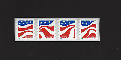 4894 - 4897 Forever Red White and Blue Coil of 4 in order