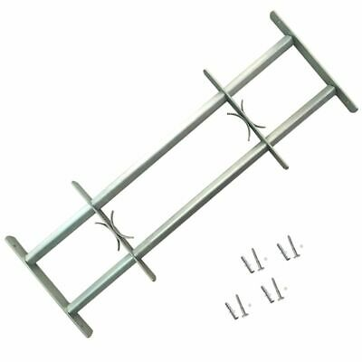 vidaXL Adjustable Security Grille for Windows with 2 Crossbar 1000-1500mm Safe~