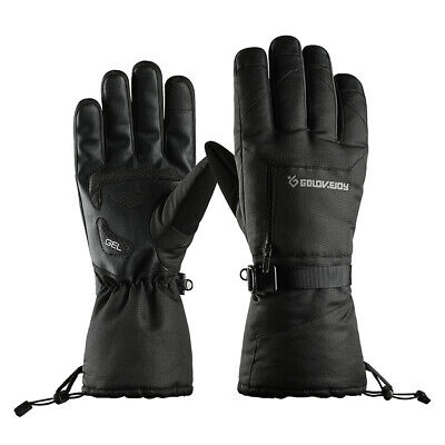 Waterproof Snow Ski Gloves Hand Warmers Non-Slip Touch Screen Full Fingers
