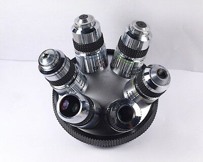 Olympus SPlan 2, 4, 10, 20, 40, 100x Microscope Objective 6-turret set