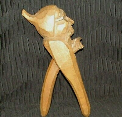 Black Forest Hand Carved Nutcracker-Elf With Beard & Pointed Cap - Gnome