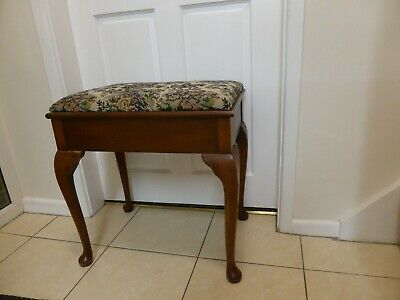 Vintage Piano Stool Dressing Table Stool with Storage Under Seat - Coven