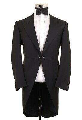 Ermenegildo Zegna Taglio Black Cutaway Morning Tailcoat Tuxedo Formal Jacket 40