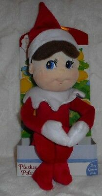 "The Elf On The Shelf Plush 15"" Doll Plushee Huggable Pal Boy Scout Blue Eyes New"