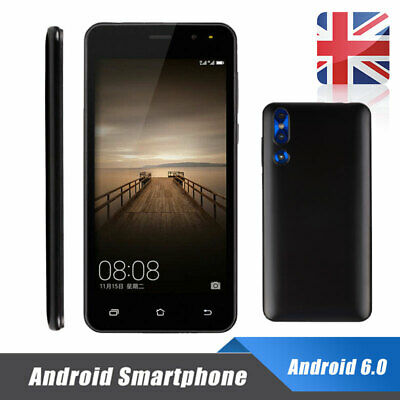 "5"" Android 6.0 Unlocked Cheap Mobile 2G Smart Phone Quad Core Dual SIM WiFi GPS"