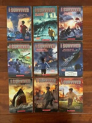 9 I SURVIVED Book Lot ❤️ Series Set of Early Chapter Ages 7-10 by Lauren Tarshi