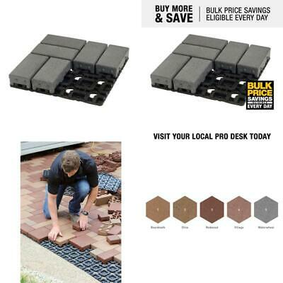 4 In. X 8 In. Waterwheel Composite Permeable Paver Grid System (8 Pavers And 1 G