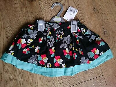 Boots Mini Club Baby Girls Black Floral Skirt 1-1.5 Years 12-18 Months BNWT