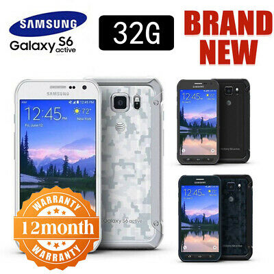SAMSUNG Galaxy S6 Active G890 Factory Unlocked Blue Grey White Android Phone UK!