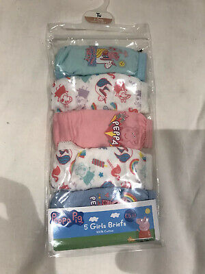 2-3 Years Peppa Pig Girls Briefs 5 Pack New In Pack