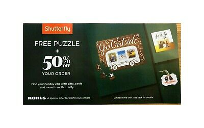 Shutterfly FREE 60 or 250 PIECE PUZZLE & 50% OFF YOUR ORDER  Expires 12/31