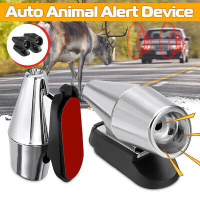 2x Utrasonic Auto Deer Alert Devices Whistle Animal  Warning Alarm Universal
