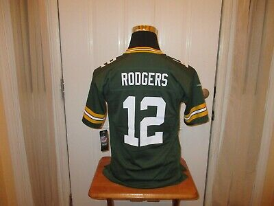 New Aaron Rodgers #12 Green Bay Packers YOUTH S-M-L-XL Nike Jersey MSRP $75