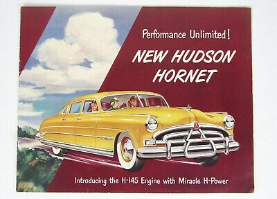 1950 Hudson Hornet H-145 Advertising Flyer / Booklet