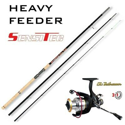 Heavy Feeder SET SENSITEC H-FEEDER 360cm bis 180g + Baitrunner CR1 3+1BB