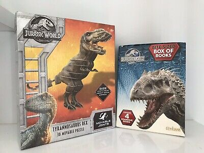Jurassic World 3D Puzzle Box Activity Books Stickers Bundle Set