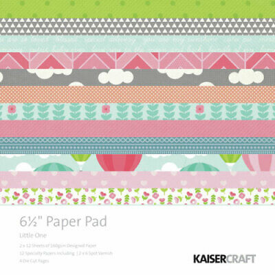 "KAISERCRAFT Scrapbooking Paper Pads - 6.5"" - Little One - PP974"