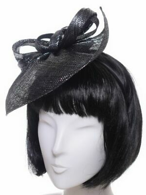 Seeberger Brillantini Fascinator Black/Grigio Capelli per Party Gioielli Sposa