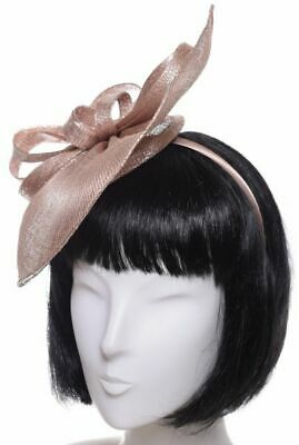 Seeberger Brillantini Fascinator Powder Red / Luce Grigio Capelli Sposa per