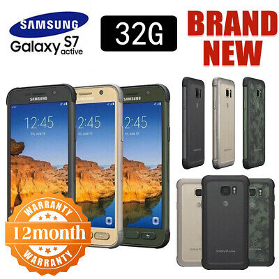 New Factory Unlocked SAMSUNG Galaxy S7 Active G891 Grey Gold Green Phone Android