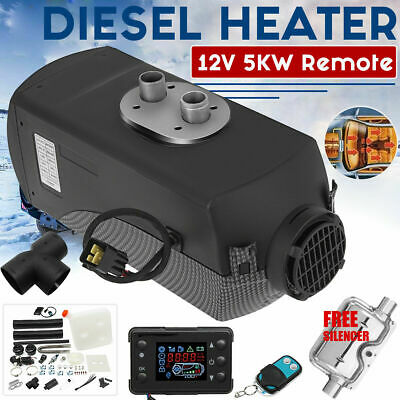 12V 5000W LCD Monitor Air diesel Fuel Heater  PLANAR for Trucks Bus Boats Car UK