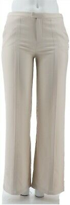H Halston Stretch Suiting Wide Leg Pants Stone 8 NEW A301958