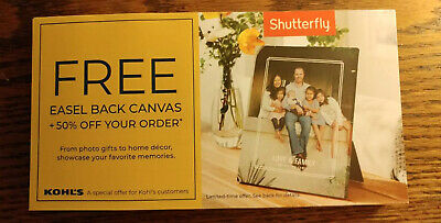 Shutterfly free 5x7 Easel Back Canvas Codes & 50% off code  expires 12/31/19