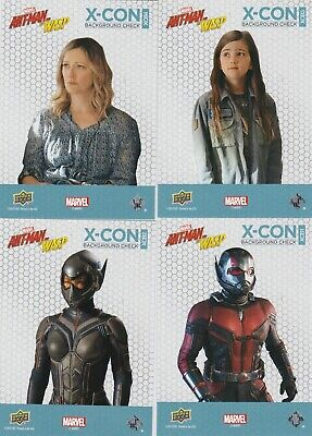 2018 Marvel Ant-man and the Wasp X-Con background check complete set XCB1-XCB10