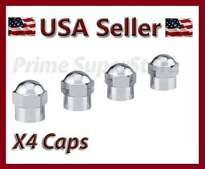 40 LEGACY CHROME VALVE STEM CAPS TH0103 TIRE WHEEL RIM CORE DUST HEX 10 PACKS