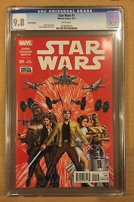 Star Wars # 1 Cgc 9.8! Third Print Variant. (4/15). Red Cover.
