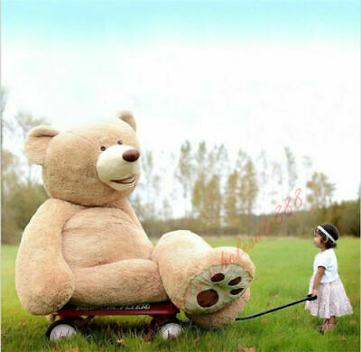 100cm-160cm Great Gift Giant Big Uk Teddy Bear Plush Soft Toys Doll (only Cover)