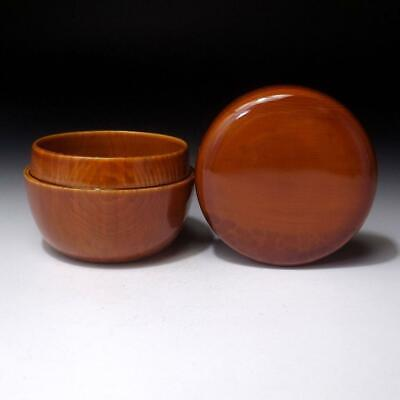 WK14 Japanese Wooden Tea Caddy of Shunkei Lacquer ware, Tea ceremony, NATSUME