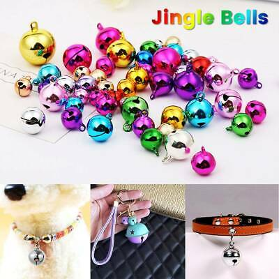 10pc Christmas Decorations Jingle Bells DIY Silver Bell Copper Xmas Tree Hanging