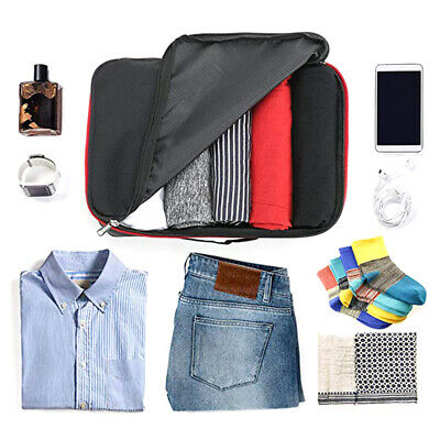 Packing Cubes Luggage Storage Organiser Travel Compression Suitcase Bag Pouch AU