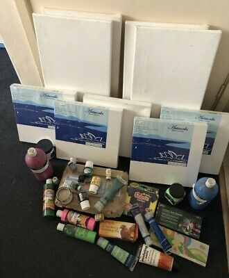 Art Supply, Canvas, Paint, Markers, Chalk, Clay, Pastels...