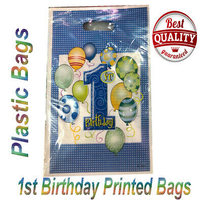 PLASTIC CARRIER BAG-Modern Printed Strong Gift shopping Bags- SHORT SIZES/COLORS