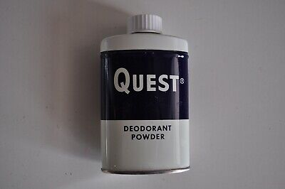 Vintage Quest Deodorant Powder Metal Tin Clark-Cleveland