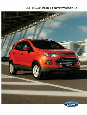 PDF Download Ford Ecosport Owners Manual Handbook Book PDF Digital Download