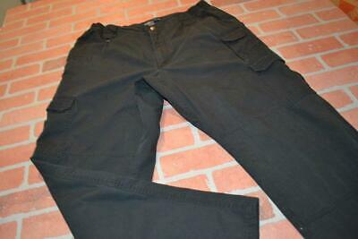 4964-a Mens 5.11 Tactical Series Cargo Pants Black Polyester Blend Size 38 x 30