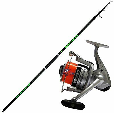 KP4354 Kit Pesca Surfcasting Canna Maver Mako 420 Mulinello Oceanic 8000 PPG