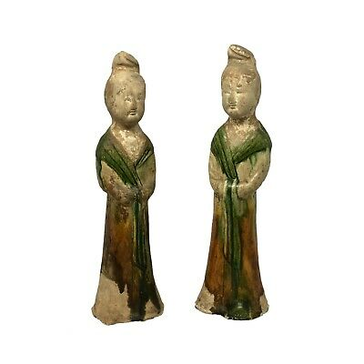 Tang Dynasty Chinese Pottery Female Figures